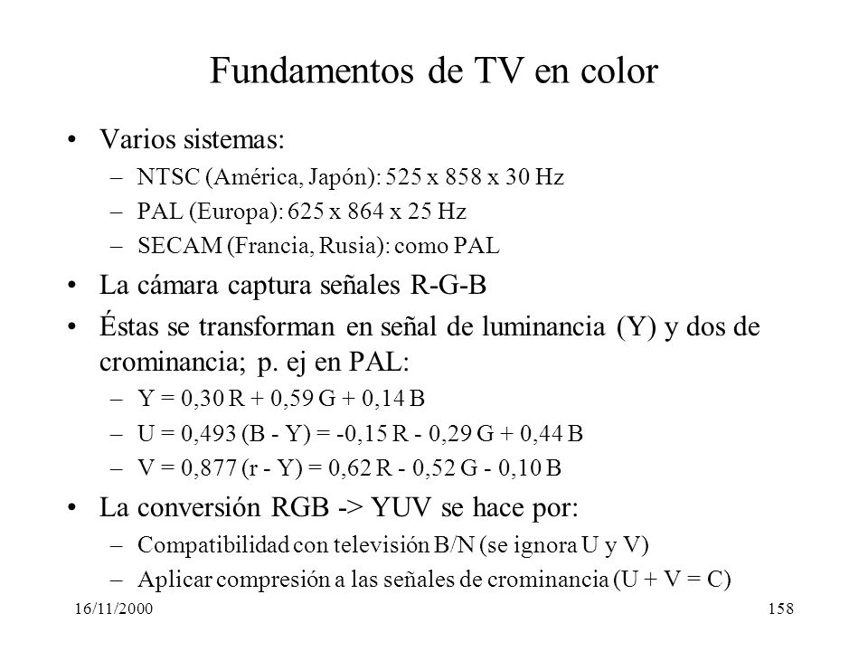 Fundamentos de TV en color