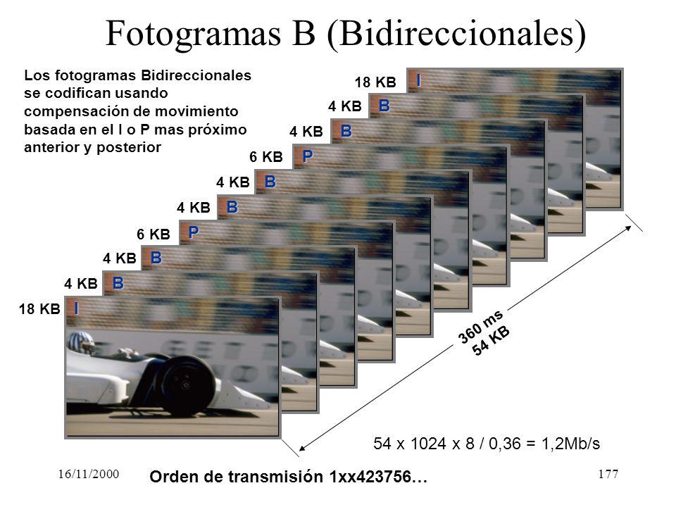 Fotogramas B (Bidireccionales)