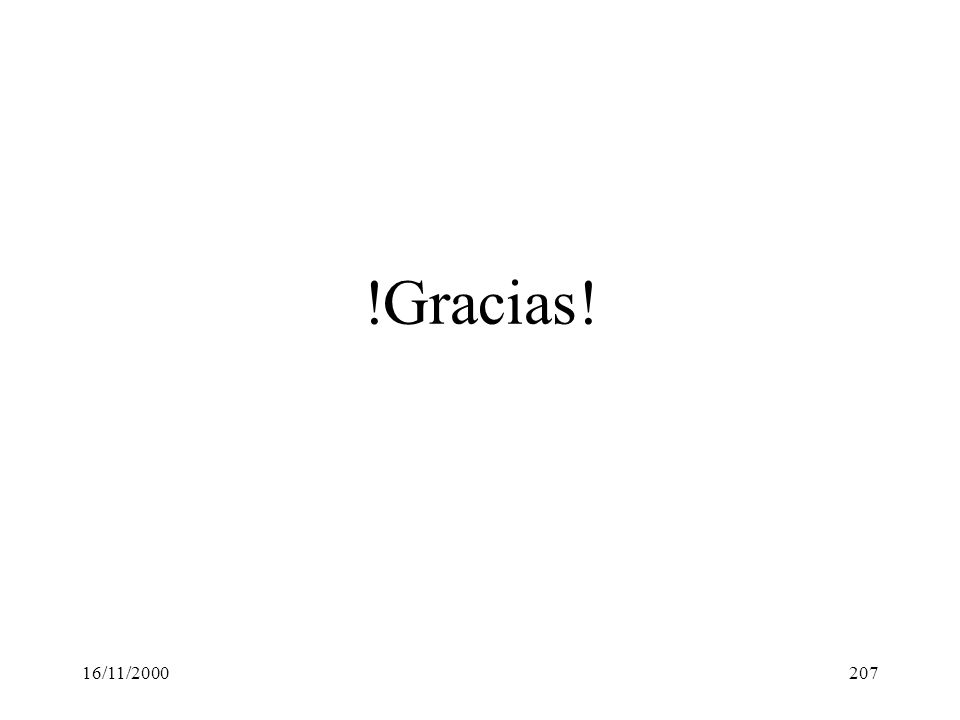 !Gracias! 16/11/2000