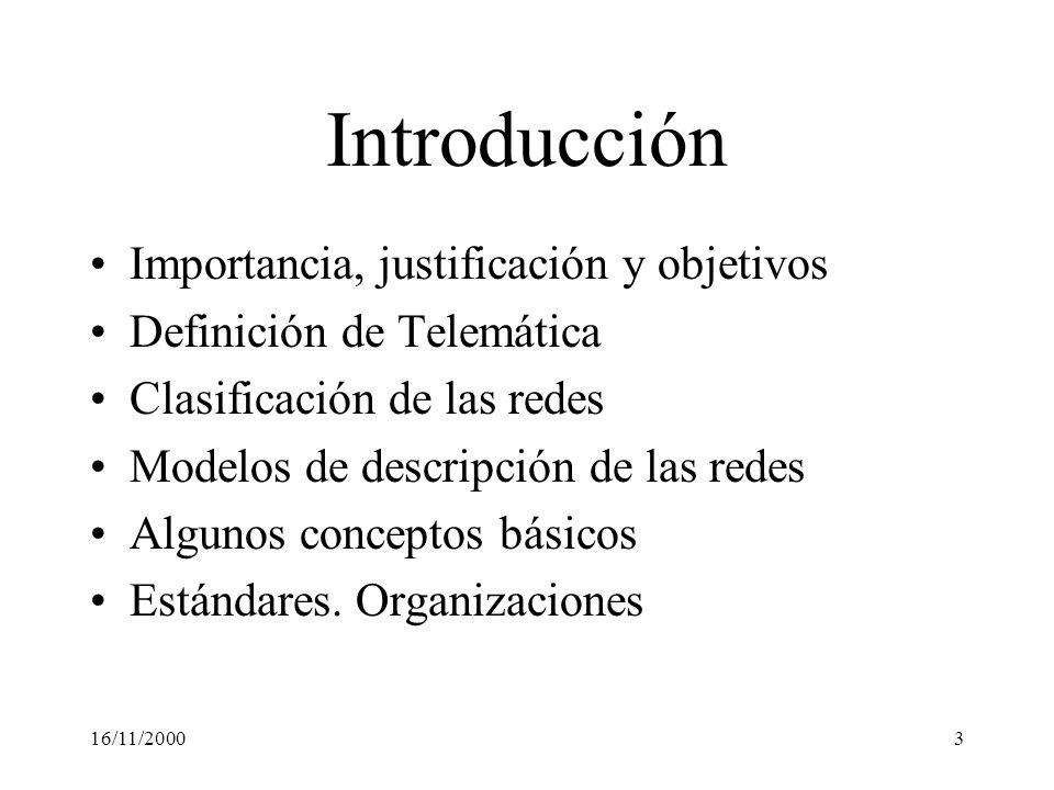 Introducción Importancia, justificación y objetivos