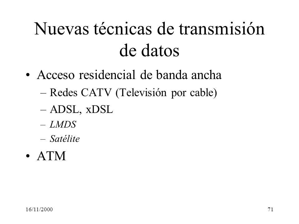 Nuevas técnicas de transmisión de datos