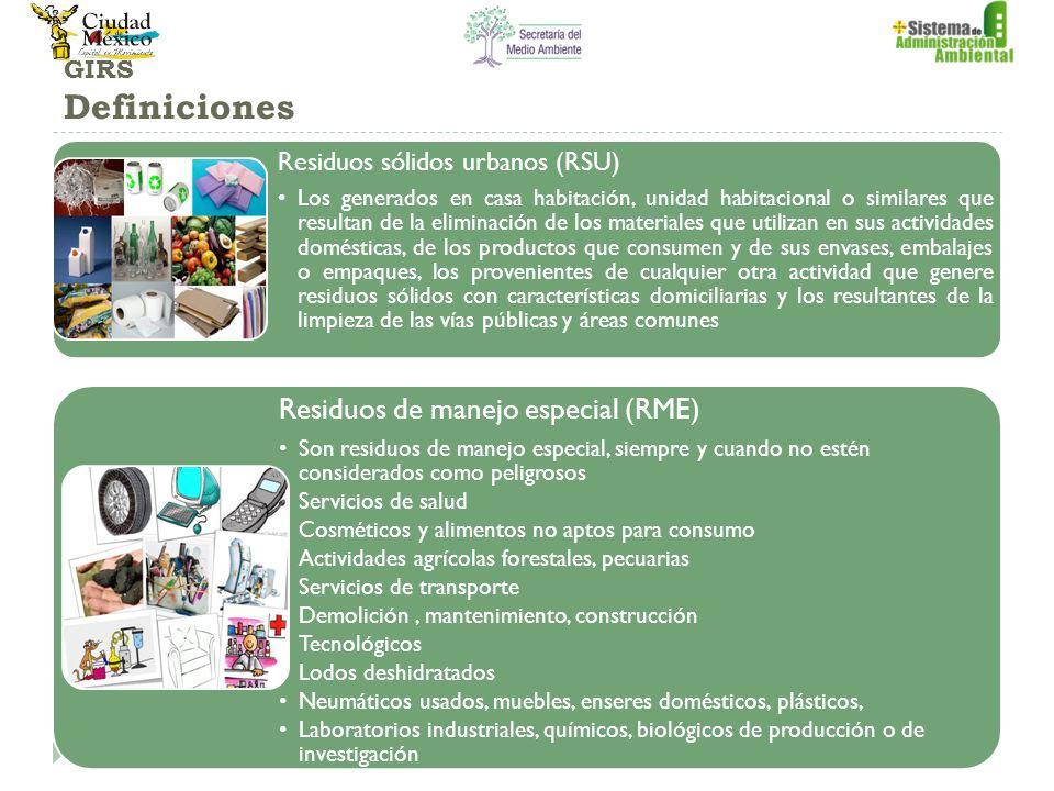 Residuos de manejo especial (RME)