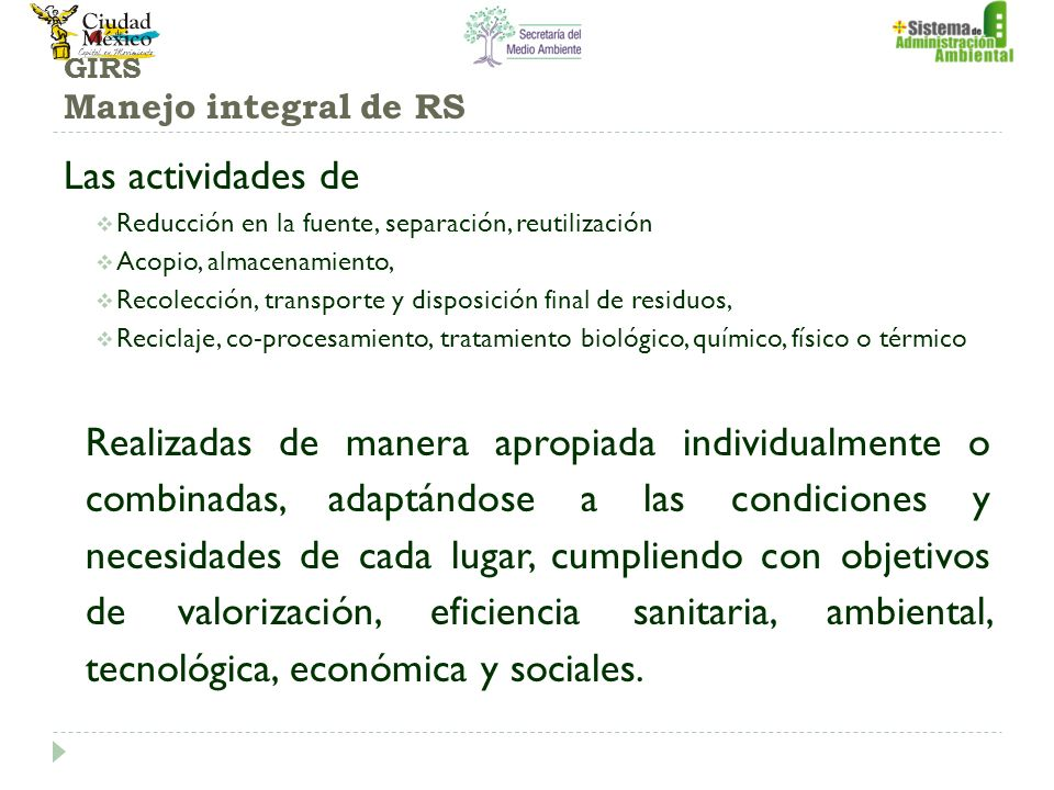 GIRS Manejo integral de RS