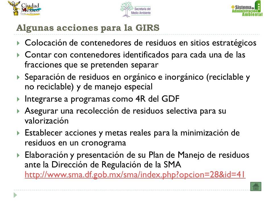 Algunas acciones para la GIRS