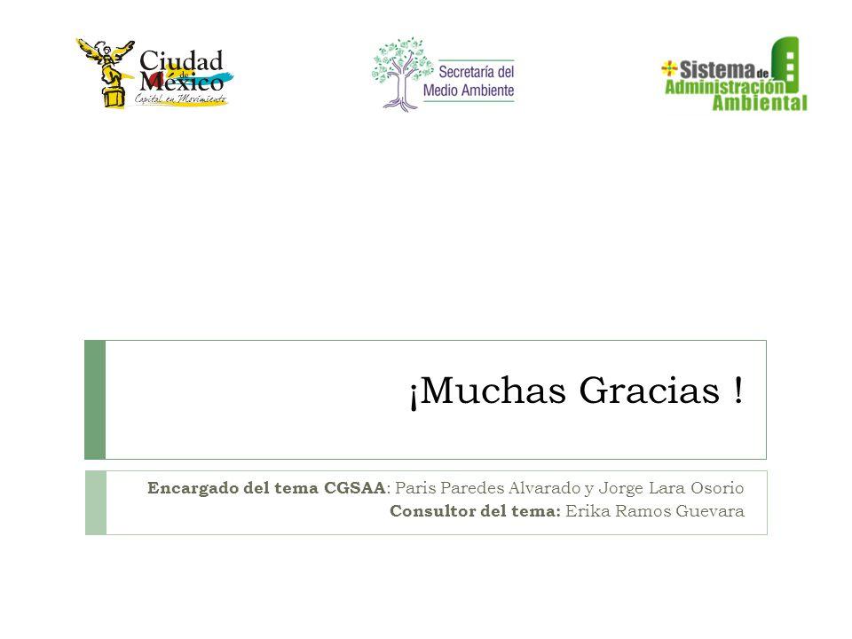 ¡Muchas Gracias . Encargado del tema CGSAA: Paris Paredes Alvarado y Jorge Lara Osorio.