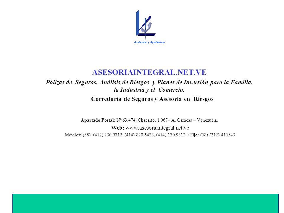 ASESORIAINTEGRAL.NET.VE Pólizas de Seguros, Análisis de Riesgos y Planes de Inversión para la Familia, la Industria y el Comercio.
