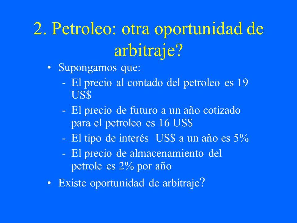 2. Petroleo: otra oportunidad de arbitraje