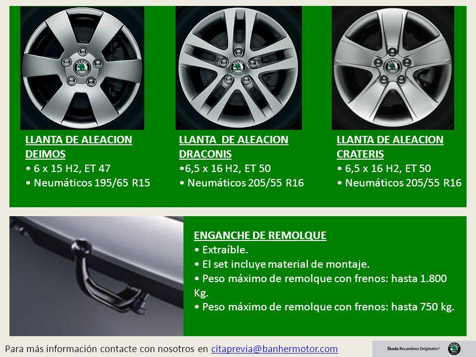 LLANTA DE ALEACION DEIMOS • 6 x 15 H2, ET 47 • Neumáticos 195/65 R15