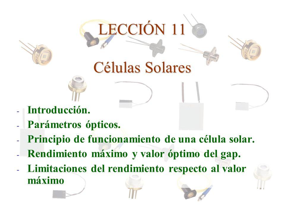 LECCIÓN 11 Células Solares