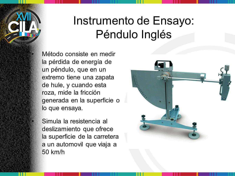 Instrumento de Ensayo: Péndulo Inglés