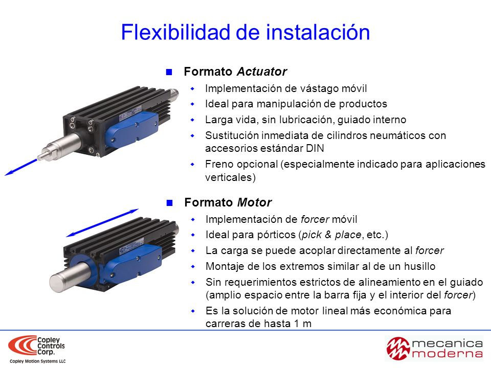 Flexibilidad de instalación