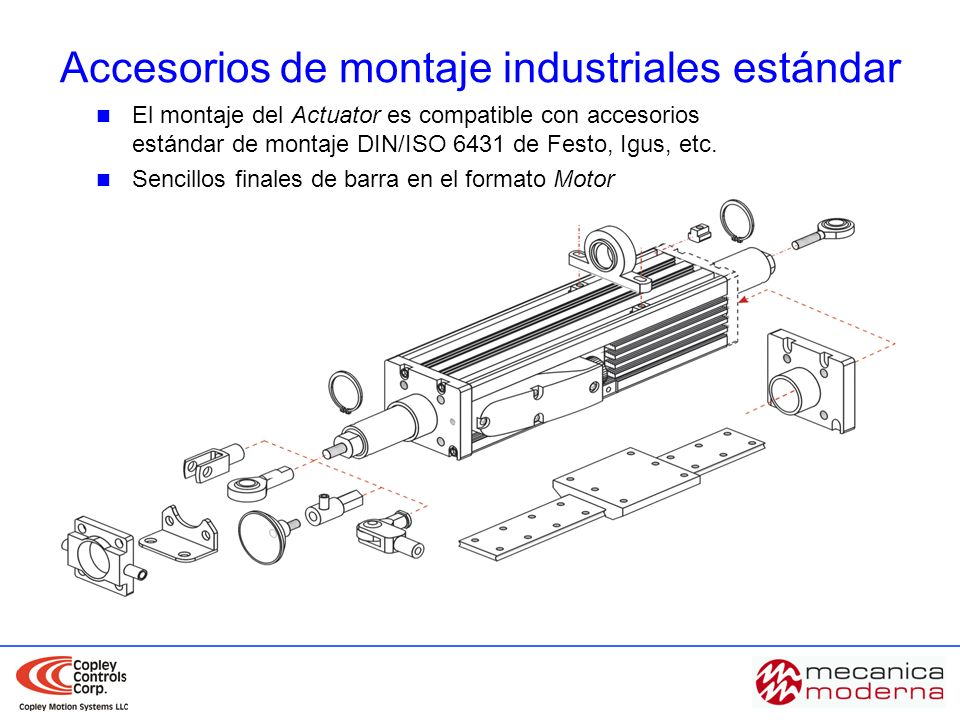 Accesorios de montaje industriales estándar