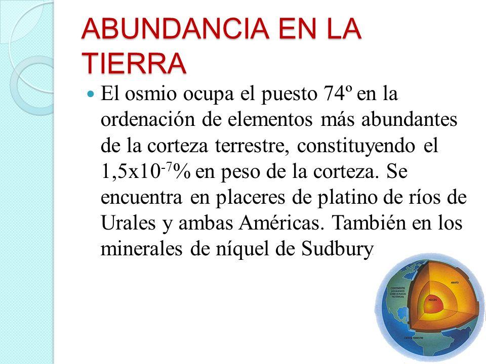 ABUNDANCIA EN LA TIERRA