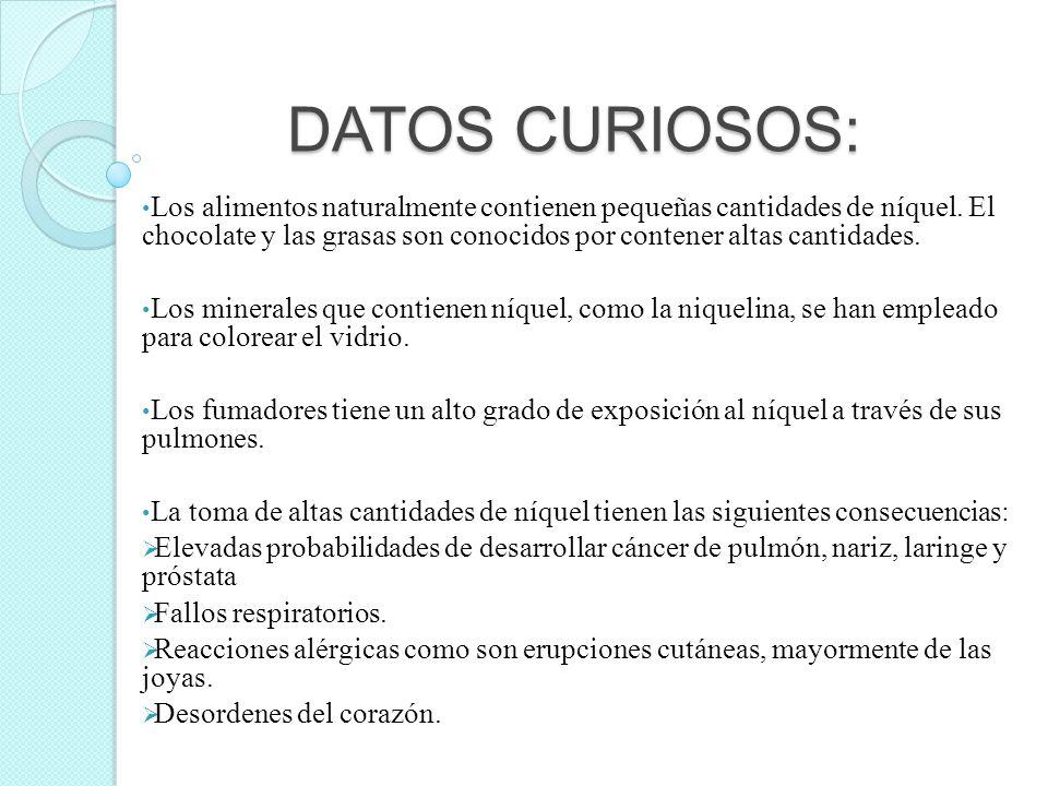 DATOS CURIOSOS:
