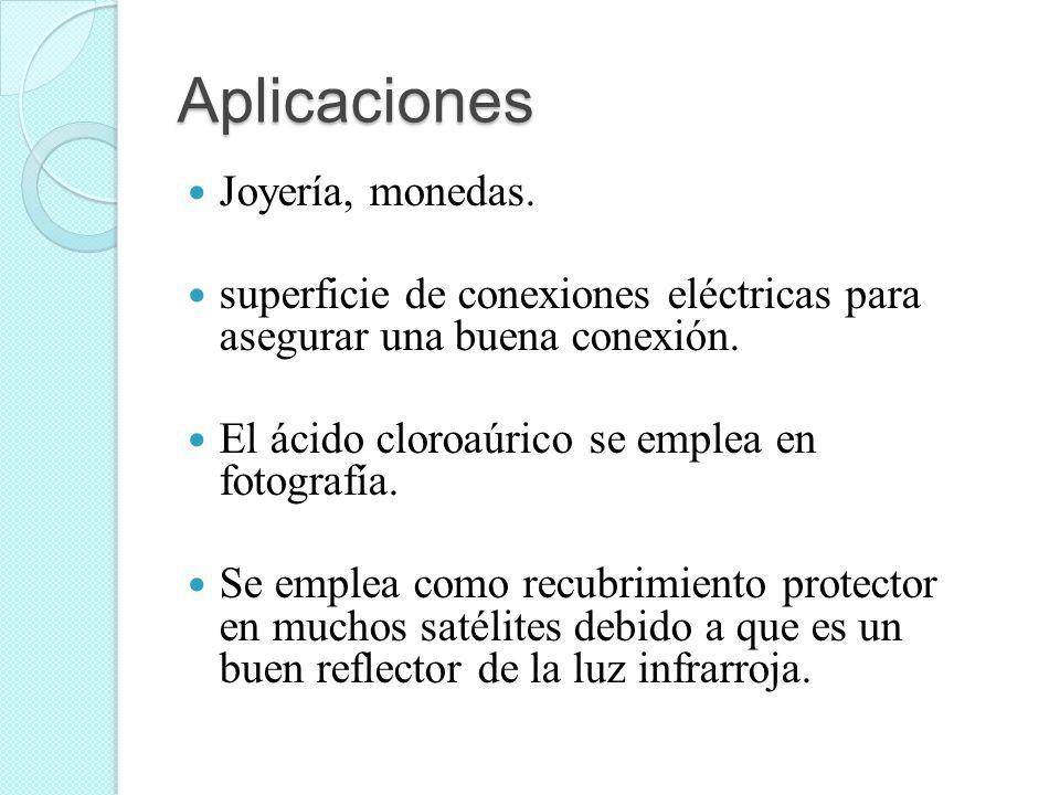 Aplicaciones Joyería, monedas.