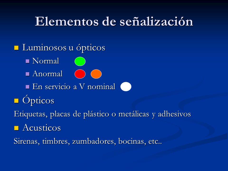 Elementos de señalización