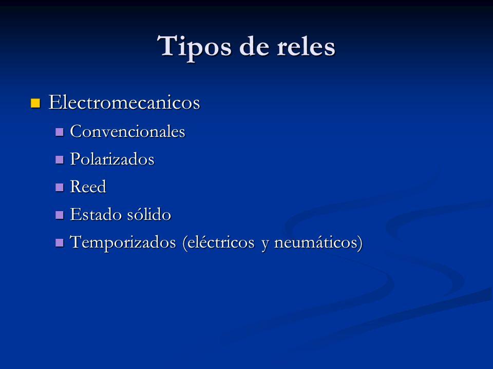 Tipos de reles Electromecanicos Convencionales Polarizados Reed