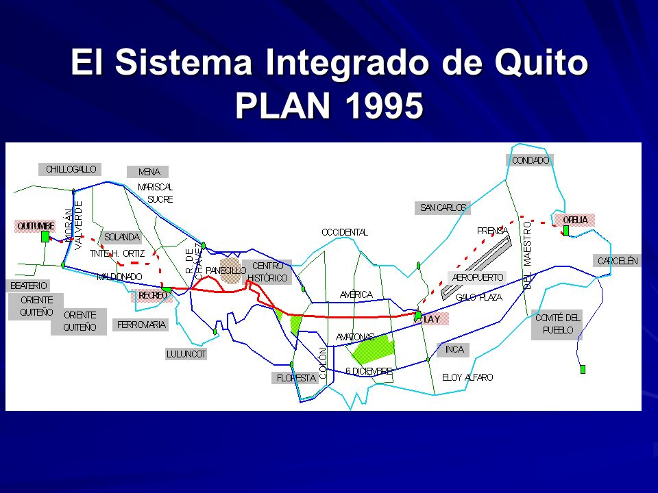 El Sistema Integrado de Quito PLAN 1995