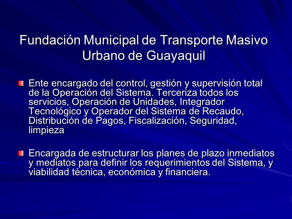 Fundación Municipal de Transporte Masivo Urbano de Guayaquil
