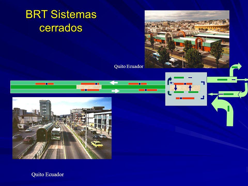 BRT Sistemas cerrados Quito Ecuador Quito Ecuador