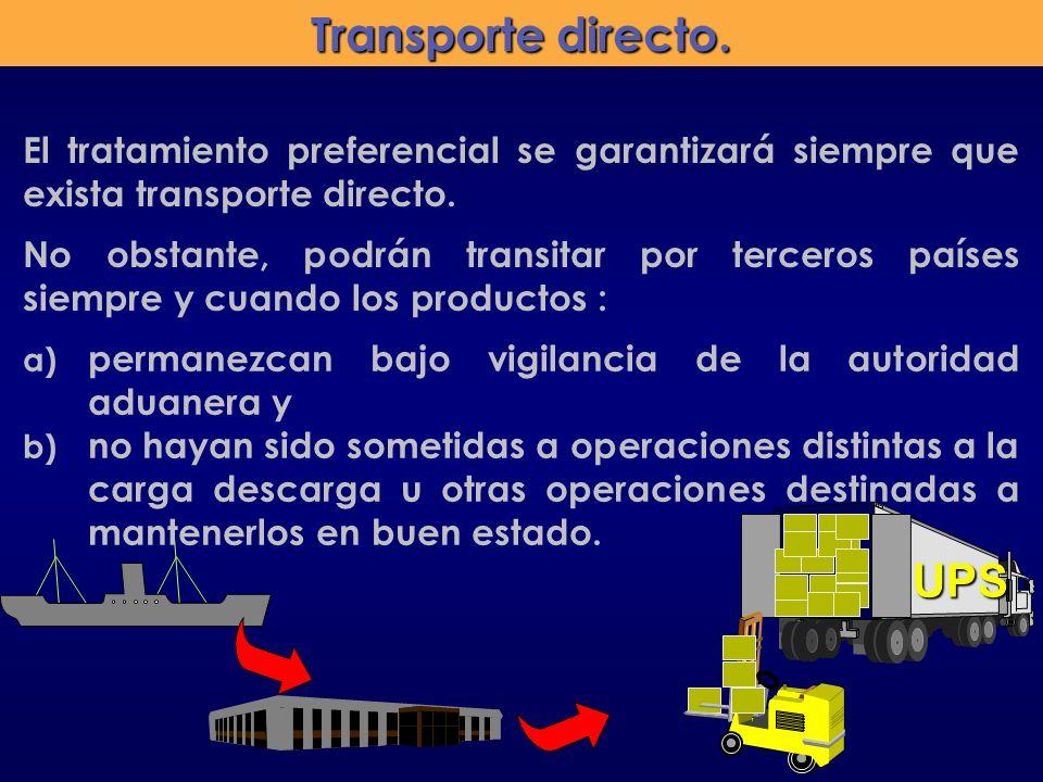 Transporte directo. UPS