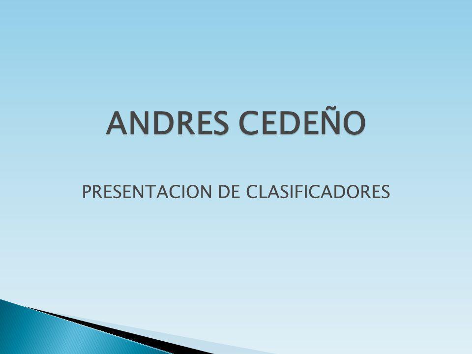 PRESENTACION DE CLASIFICADORES