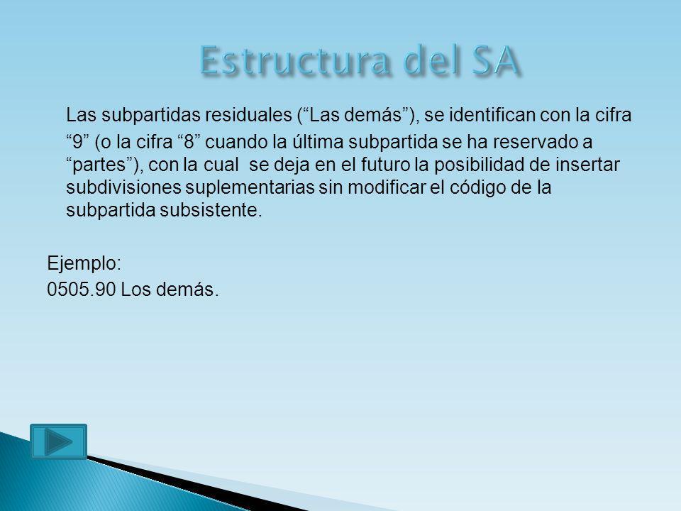 Estructura del SA