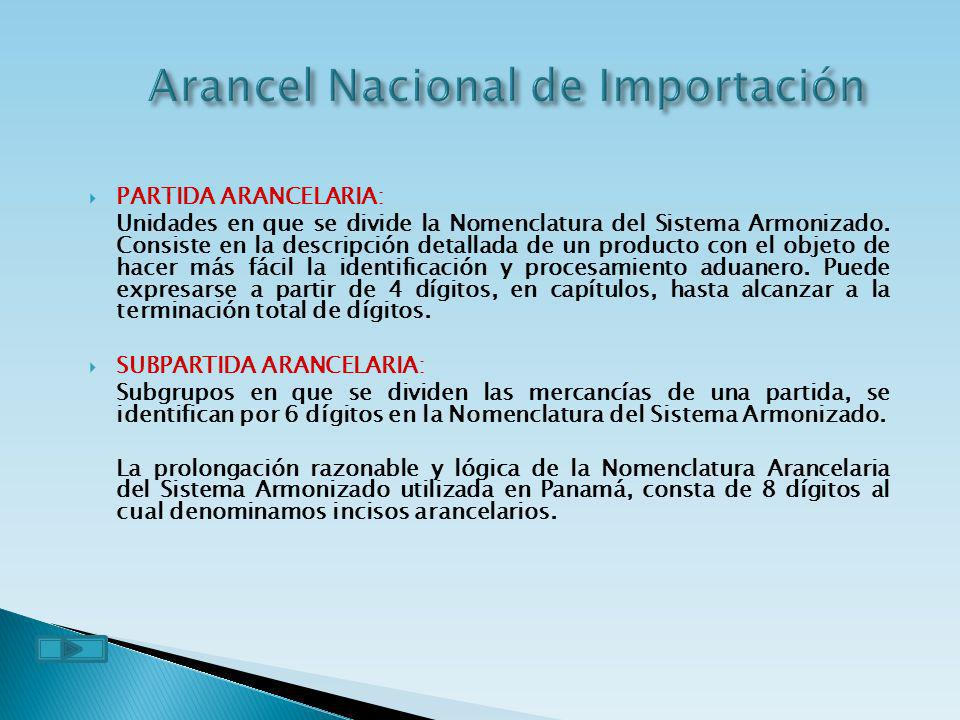 Arancel Nacional de Importación