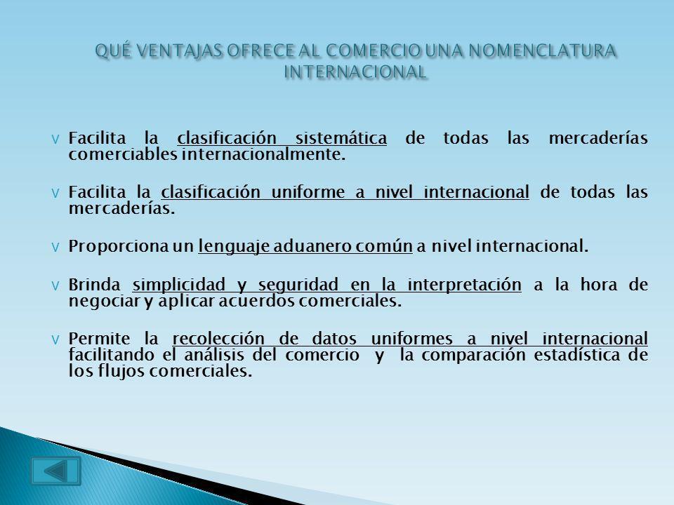 QUÉ VENTAJAS OFRECE AL COMERCIO UNA NOMENCLATURA INTERNACIONAL