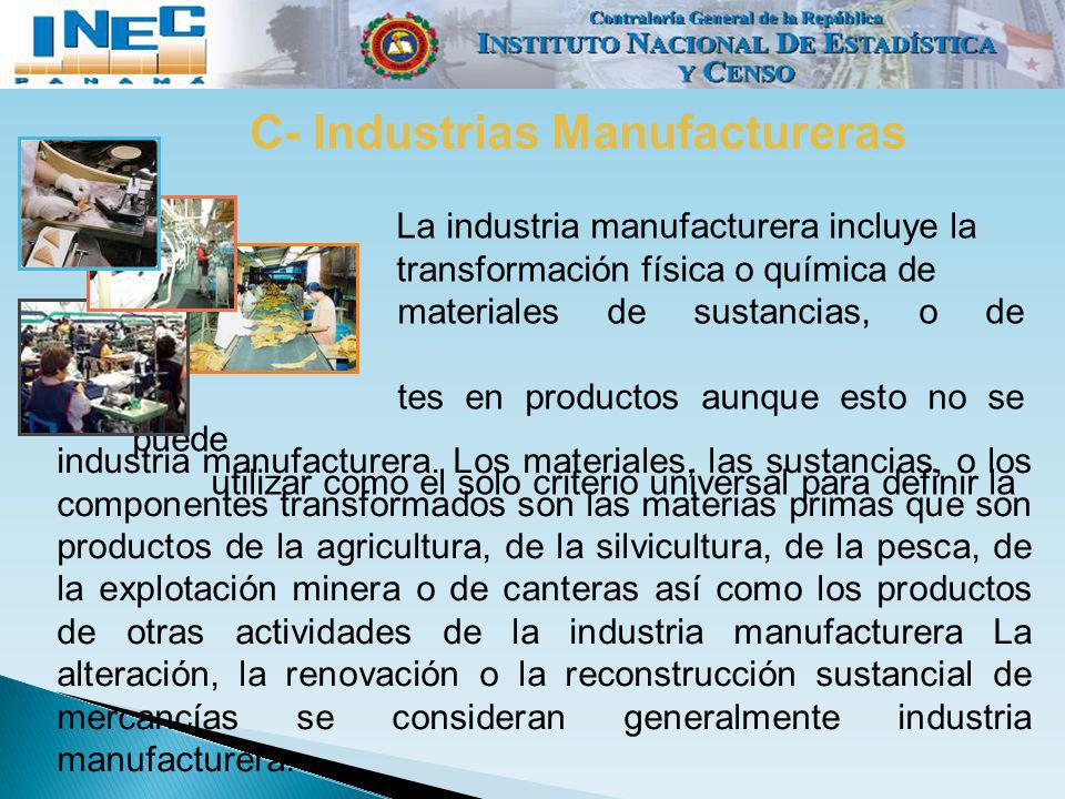 C- Industrias Manufactureras
