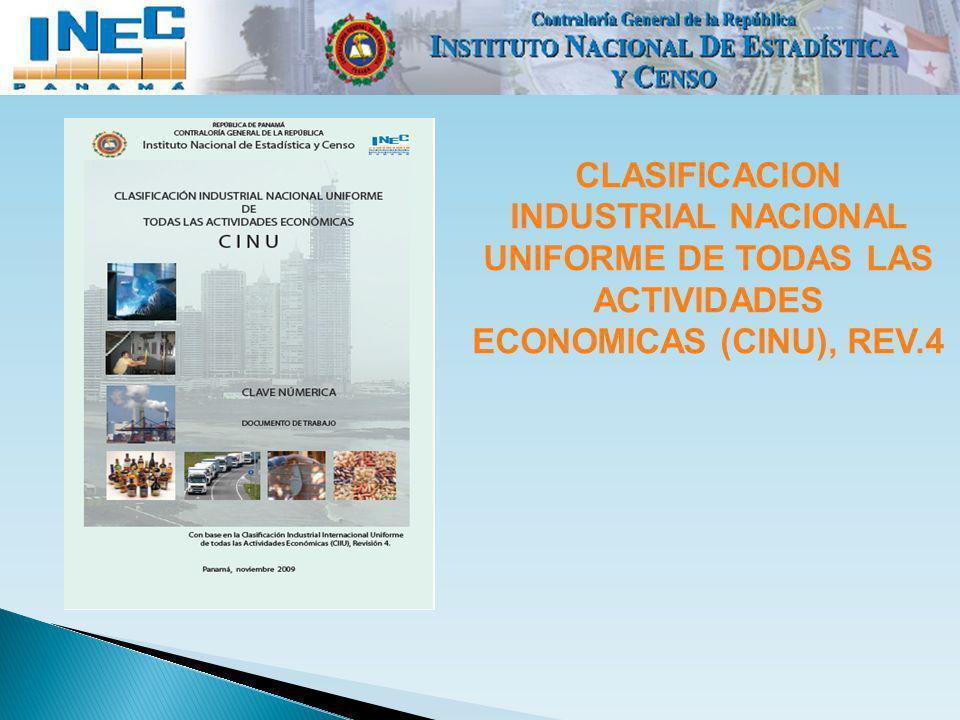 CLASIFICACION INDUSTRIAL NACIONAL UNIFORME DE TODAS LAS ACTIVIDADES