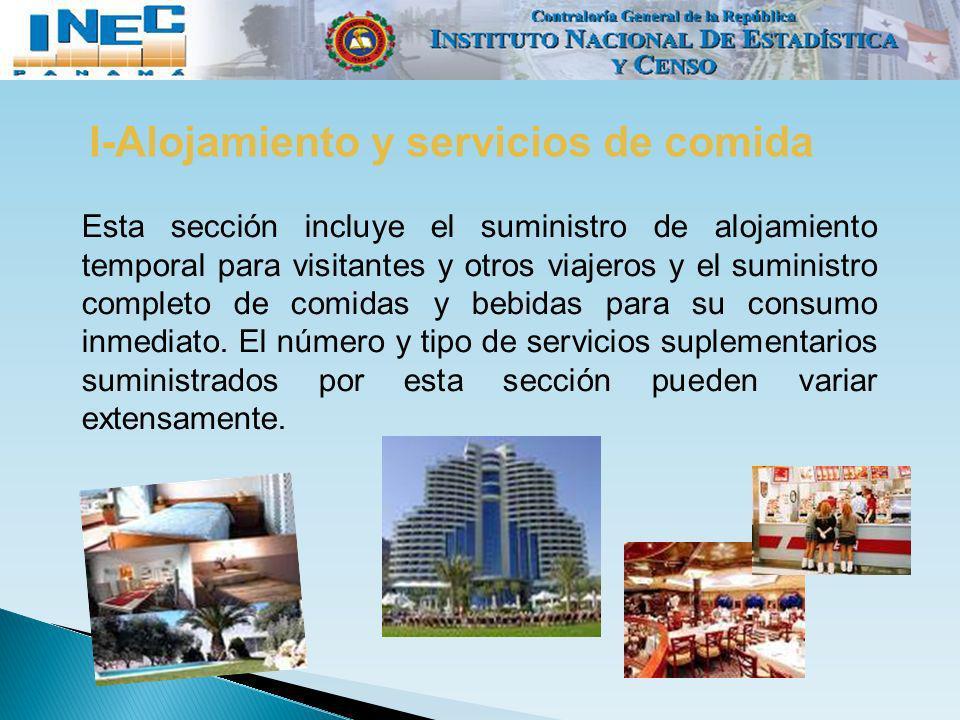 I-Alojamiento y servicios de comida