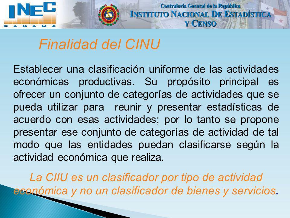 Finalidad del CINU