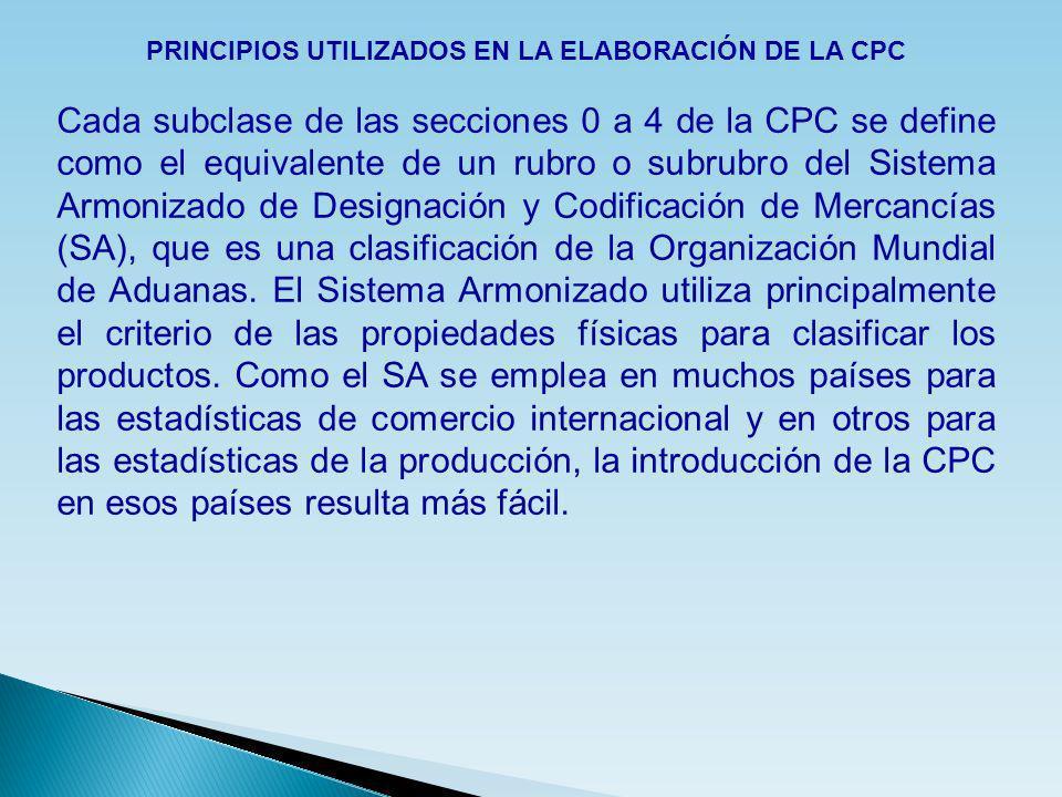 PRINCIPIOS UTILIZADOS EN LA ELABORACIÓN DE LA CPC