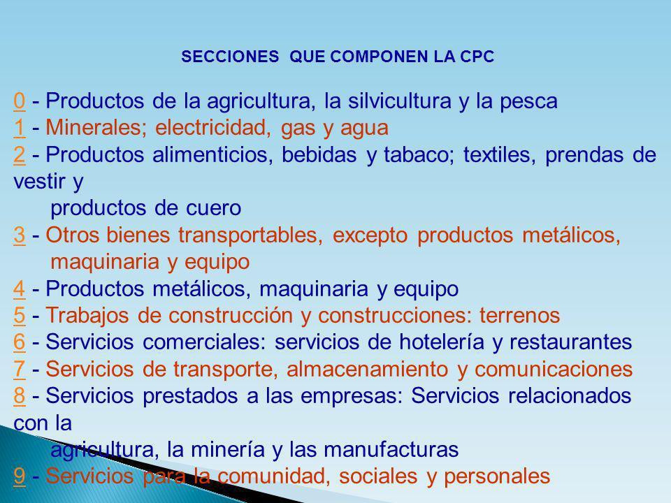 SECCIONES QUE COMPONEN LA CPC