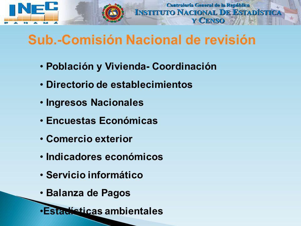 Sub.-Comisión Nacional de revisión