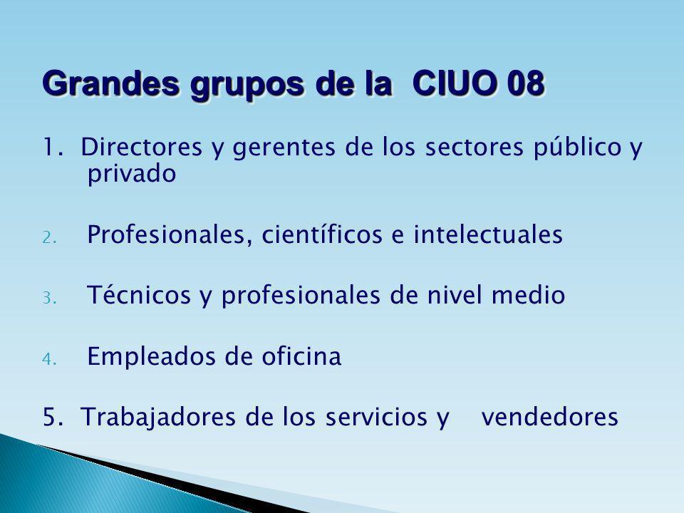 Grandes grupos de la CIUO 08