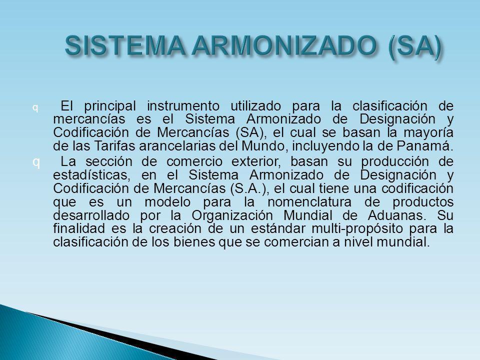 SISTEMA ARMONIZADO (SA)