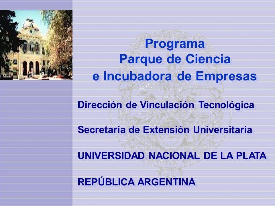 Programa Parque de Ciencia e Incubadora de Empresas