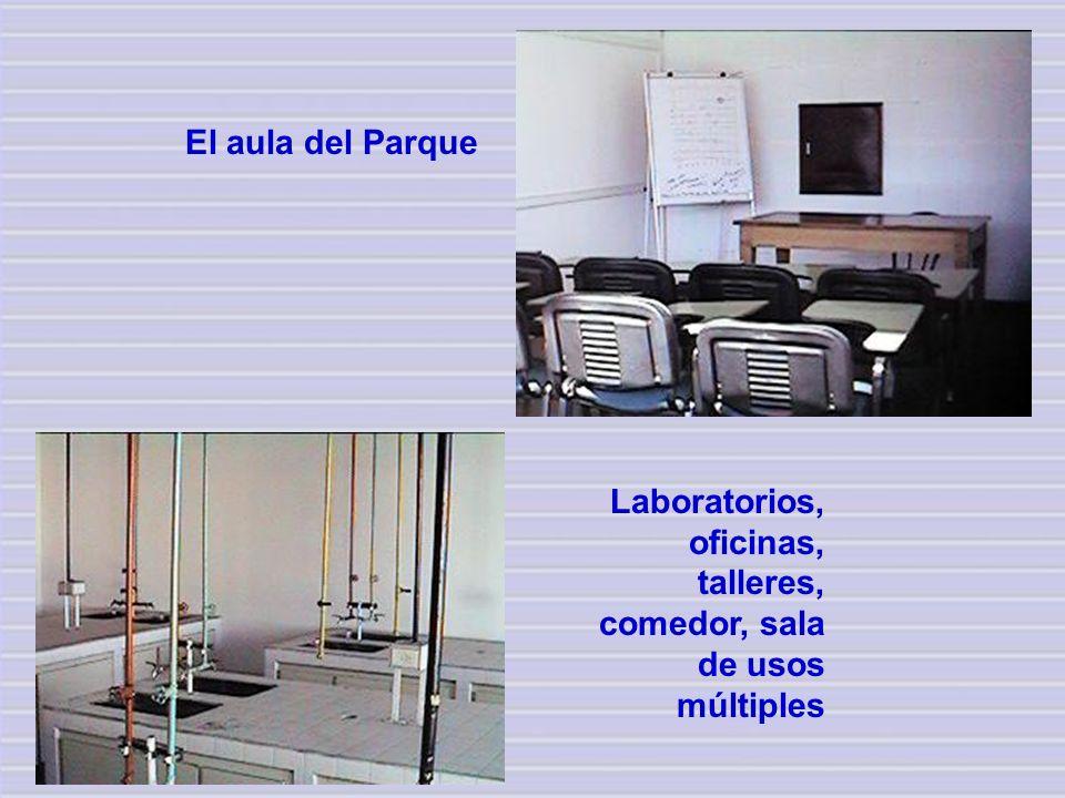 Laboratorios, oficinas, talleres, comedor, sala de usos múltiples