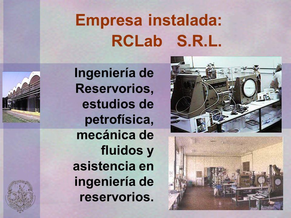 Empresa instalada: RCLab S.R.L.