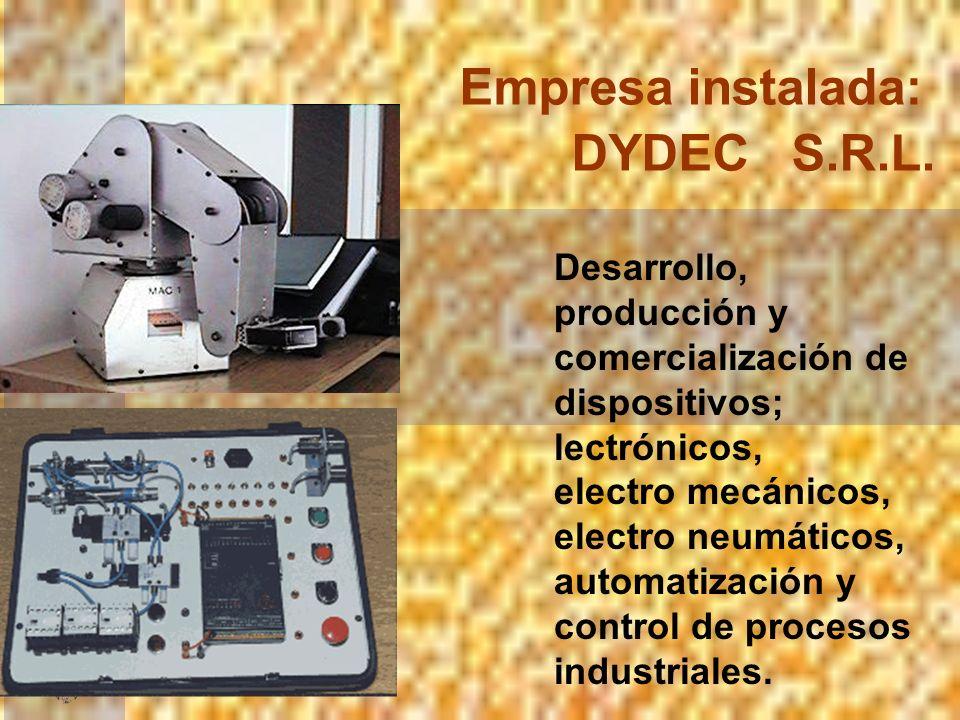 Empresa instalada: DYDEC S.R.L.