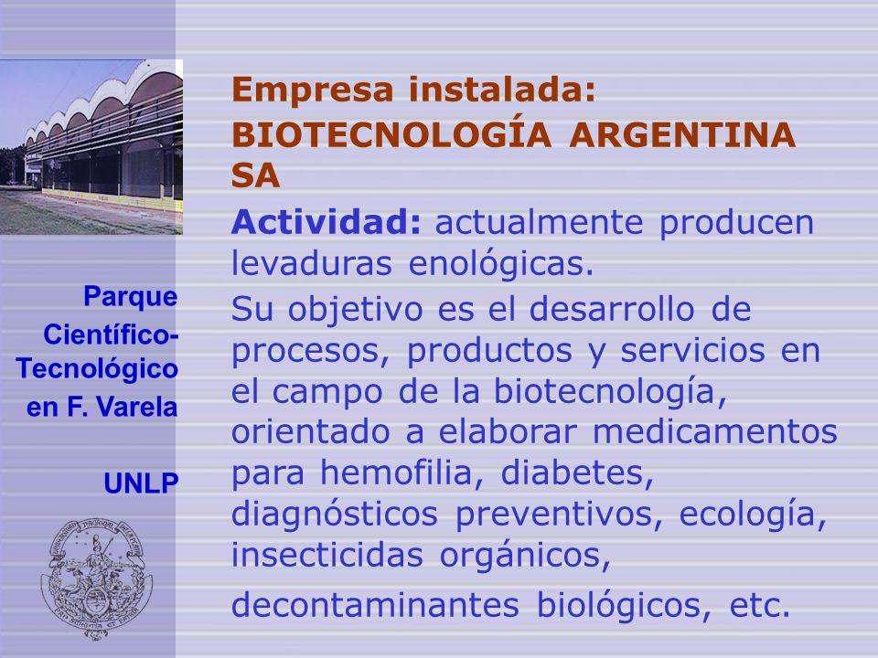 BIOTECNOLOGÍA ARGENTINA SA
