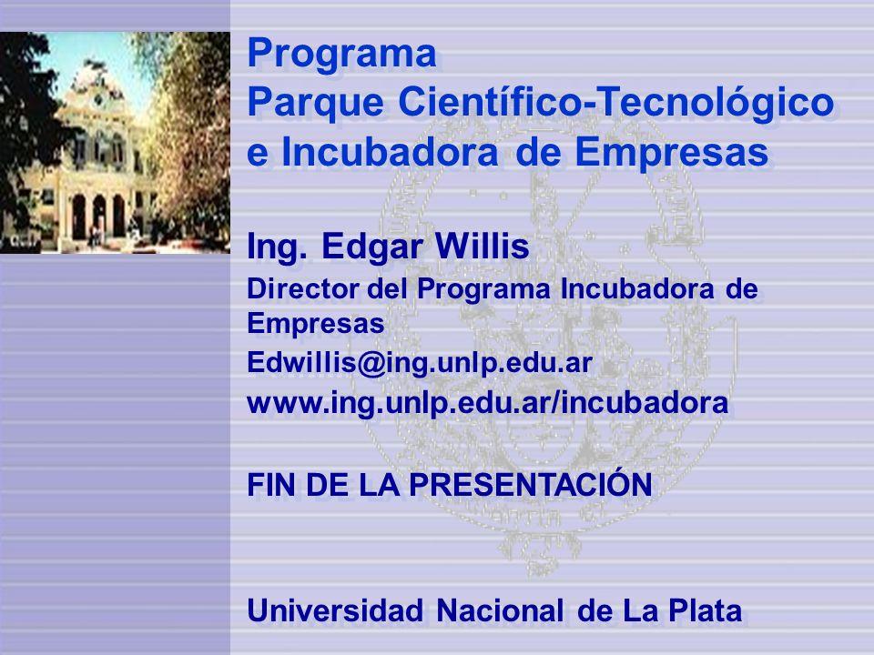 Programa Parque Científico-Tecnológico e Incubadora de Empresas