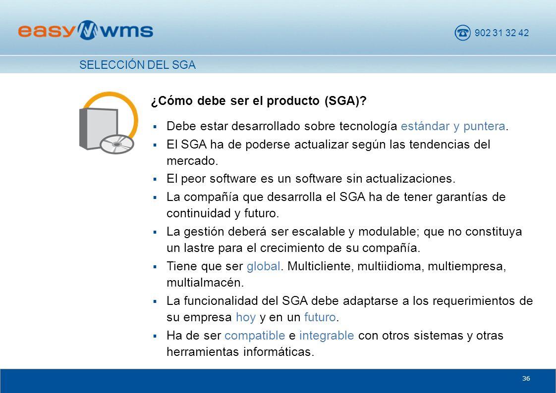 ¿Cómo debe ser el producto (SGA)