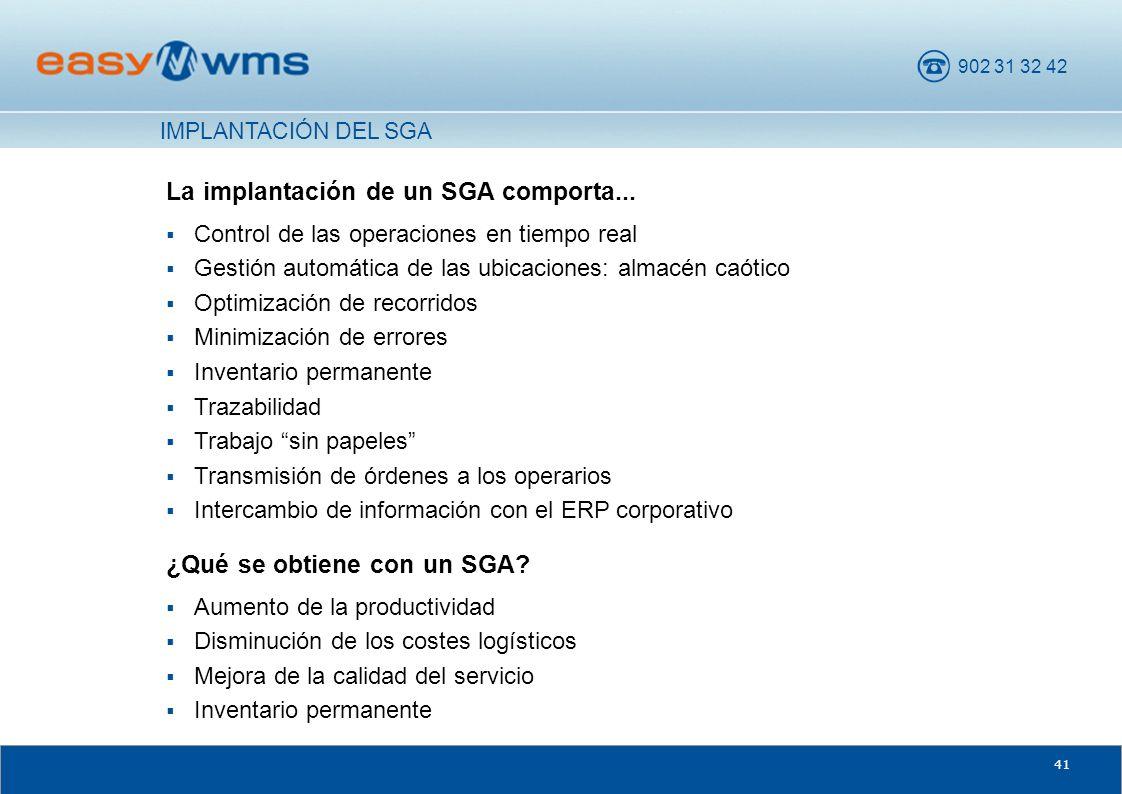 La implantación de un SGA comporta...