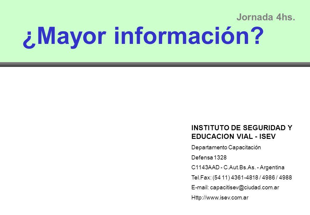 ¿Mayor información Jornada 4hs.