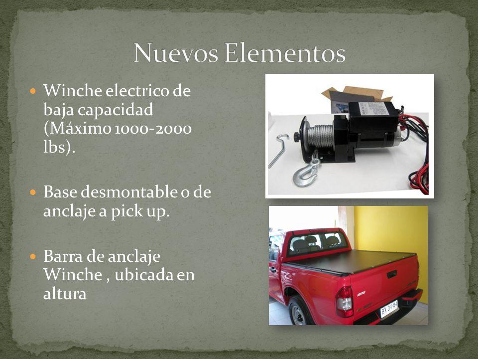 Nuevos Elementos Winche electrico de baja capacidad (Máximo 1000-2000 lbs). Base desmontable o de anclaje a pick up.