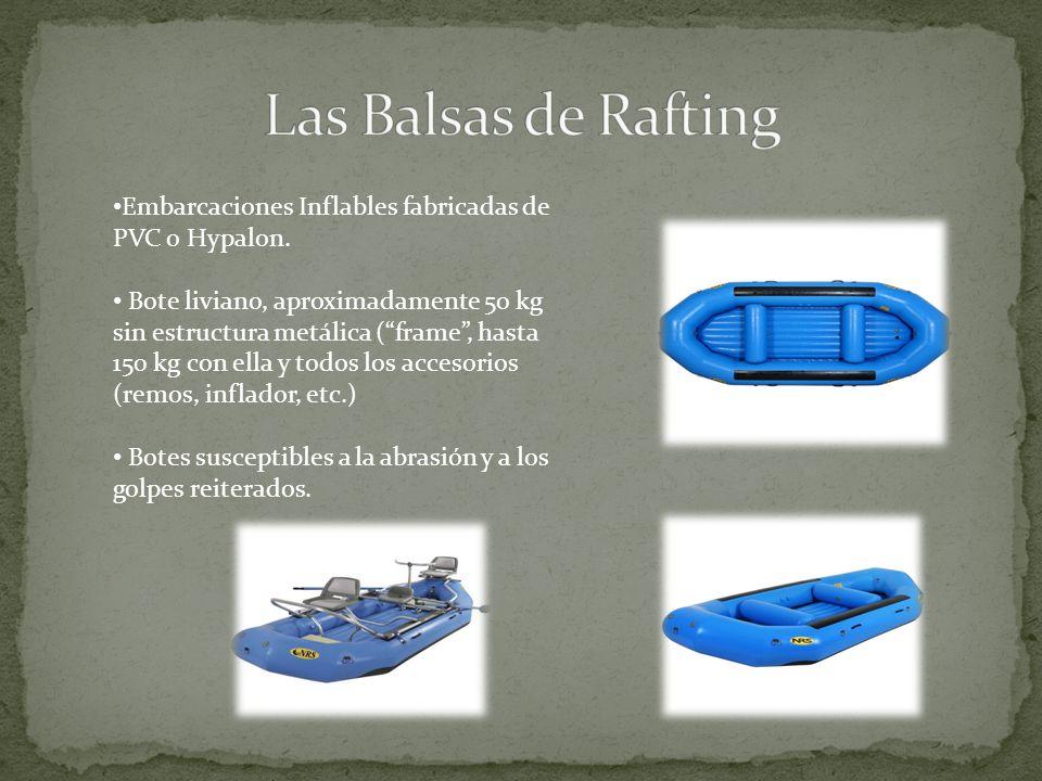 Las Balsas de Rafting Embarcaciones Inflables fabricadas de PVC o Hypalon.