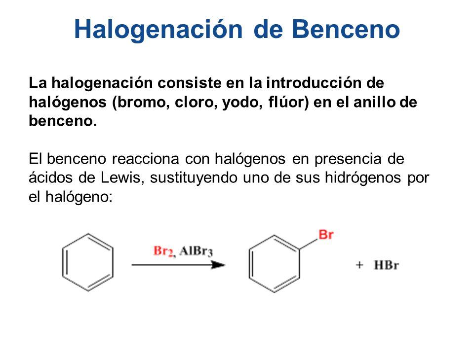 Halogenación de Benceno